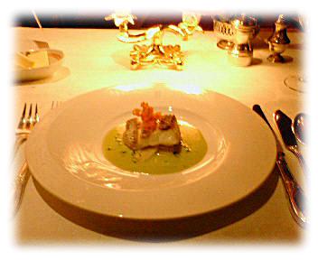 天然真鯛のポワレ アンディープ添え 浅葱風味ソース