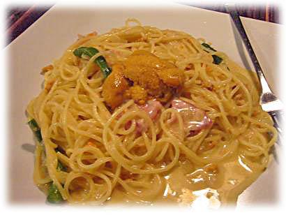 生ウニのクリームスパゲッティ