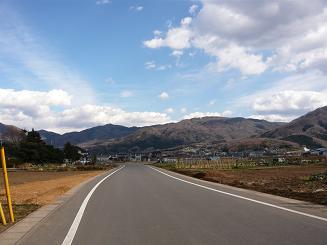 真壁町の道