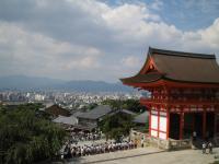 清水寺から京都市街地を