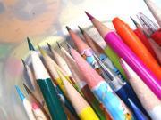かなり削られた鉛筆達