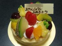 デコレーションチーズケーキ