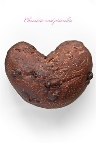 チョコ&ピスタチオのパン