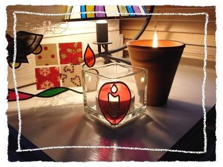 クリスマスガラスキューブ