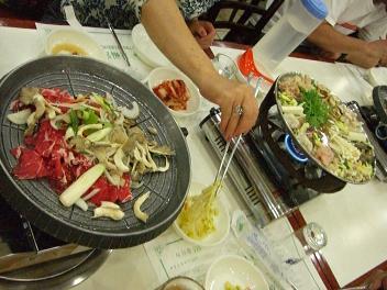 プルコギと海鮮鍋