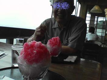 カキ氷が大好きな父(笑)