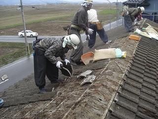 上清水石田様物置屋根葺き替え工事 001