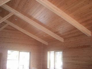 桜新町小林様現場外装、内装天井、壁、羽目板張り 002