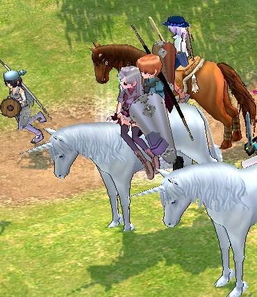 2人仲良く乗馬♪