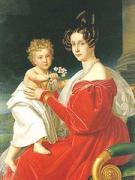 母ゾフィーに抱かれたフランツ・ヨーゼフ・カール皇子