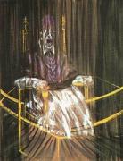 ベラスケスの教皇イノケンティウスⅩ世像による習作 ベーコン