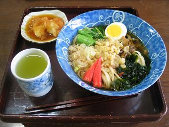 01-07 昼食たぬきうどん