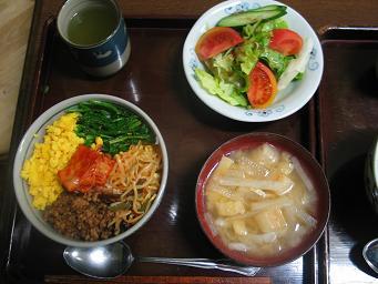01-07 夕食ビビンバ