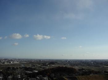 寒い空の風景