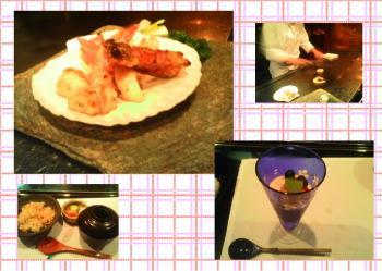 海鮮盛とご飯にデザート♥