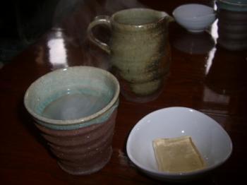 蕎麦湯とデザート
