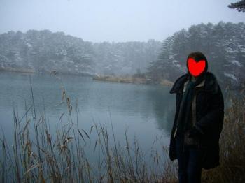 寒々しい沼の姿・・・