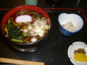 山菜あんかけ温麺
