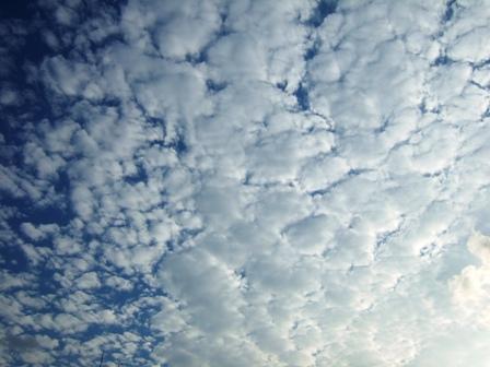 ベランダから撮った空