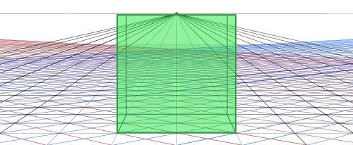 一点透視グリッド立方体一つ