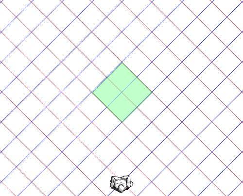格子上面対角線透視