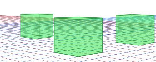 立方体複数描画