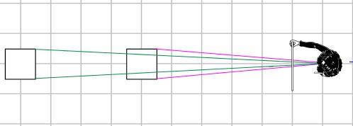 線遠近法・見かけの大きさ1