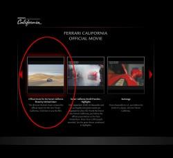 フェラーリカリフォルニアオフシャルビデオの一覧ページの画像