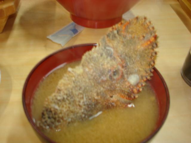 ゾウリエビの味噌汁