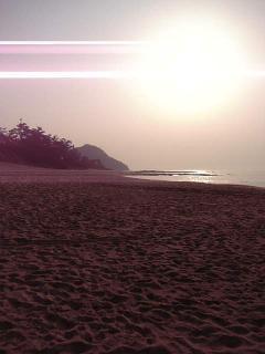 夕暮れの琴引浜