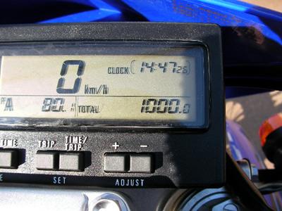 1000km表示