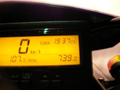 総走行距離739km