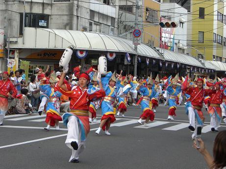 2008 よさこい祭り1