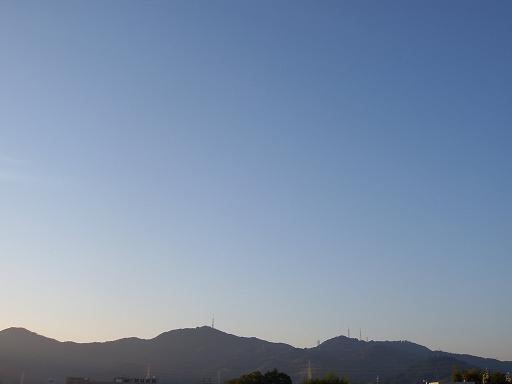 10月21日の高知の空です