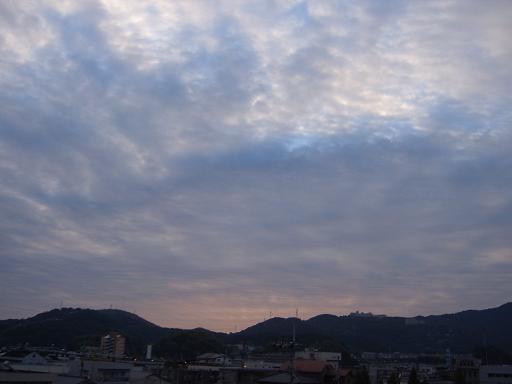 10月29日高知の空でーす