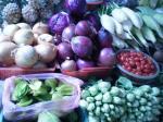 市場の野菜たち