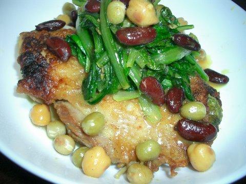 鶏肉とお豆
