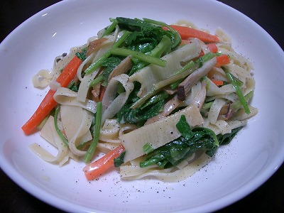 野菜ばっかりのタリアテッレ