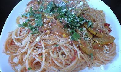ズッキーニのトマトソース