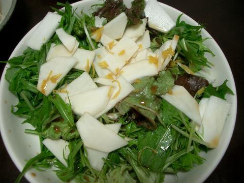 カブと水菜のサラダ