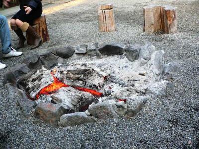 笠山荒神たき火