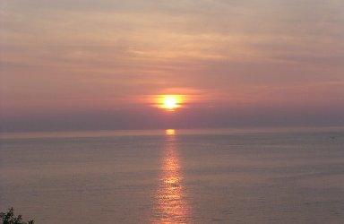 間人の夕日