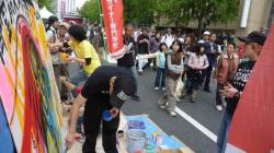 御堂筋Kappoでライブペイント 石川先生の写真