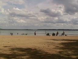 キャンプで、砂浜06