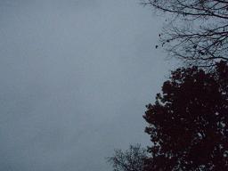 11月の曇り空