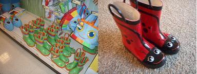 新しい雨靴