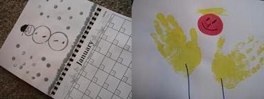 手作りカレンダー2008。