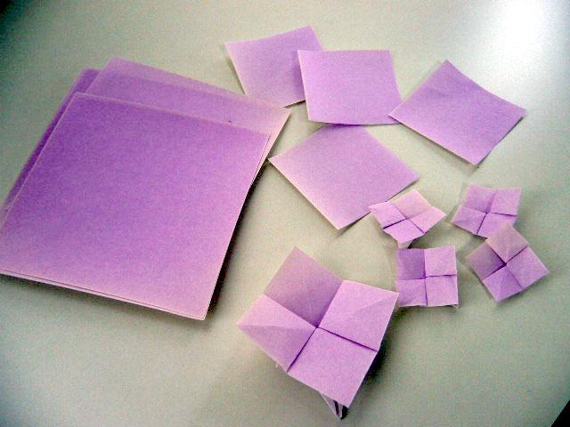 簡単 折り紙:折り紙 あじさい 立体 折り方-divulgando.net
