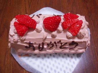 嫁はんからのケーキ