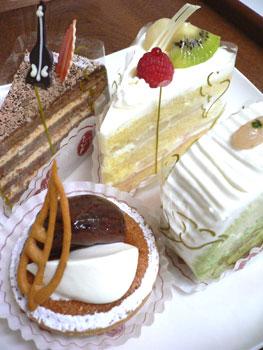 リリエンベルグのケーキたち